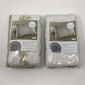 Set of Two Martha Stewart Pillow Shams Aloha Std